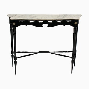 Mid-Century Italian Ebonised Console Table, 1950s