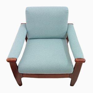 Deutscher Mid-Century Sessel mit Gestell aus Buche, 1960er