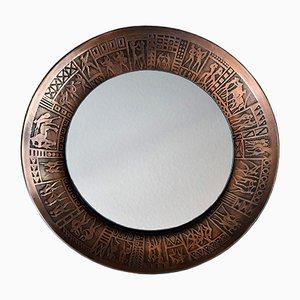 Espejo italiano Mid-Century de cobre de Furgeri, años 60