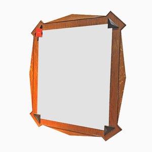 Espejo de pared cubista antiguo