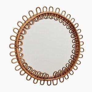 Round Mid-Century Italian Mirror, 1960s