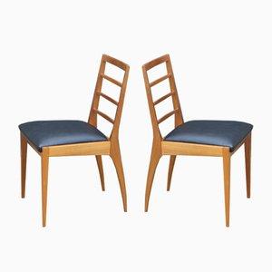 Esszimmerstühle aus Kunstleder & Teak von McIntosh, 1960er, 4er Set
