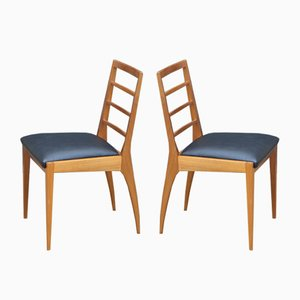 Leatherette & Teak Dining Chairs from McIntosh, 1960s, Set of 4