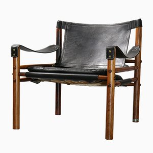 Scirocco Safari Leather Lounge Chair by Arne Norell for Arne Norell AB