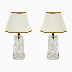 Mid-Century Glass Table Lamps, 1960s, Set of 2