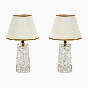 Mid-Century Tischlampen aus Glas, 1960er, 2er Set