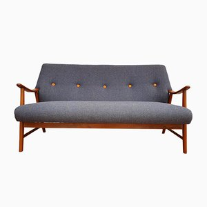 Scandinavian Modern Danish Beech and Fabric Sofa, 1960s