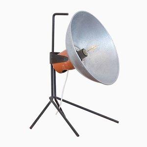 Lámpara de mesa italiana industrial de aluminio y hierro de ALGAS, años 60