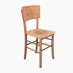 Mid-Century Rustic Fir Dining Chair, 1950s