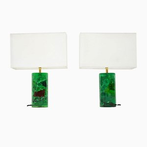 Vintage Resin Table Lamps, Set of 2