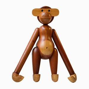 Large Vintage Teak Monkey by Kay Bojesen