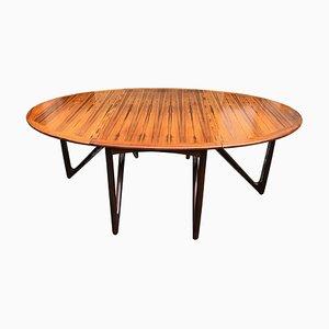 Mesa de comedor de madera de Kurt Østervig para Jason Møbler, años 60