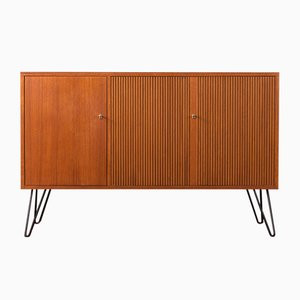 Scandinavian Modern German Steel and Teak Sideboard from DeWe, 1960s