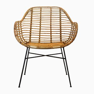 Hand-Crafted Iron and Rattan Dining Chair from Suite Contemporary, 2019