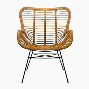 Iron and Rattan Chair from Suite Contemporary