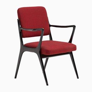 Armlehnstühle mit Holzgestell & Stoffbezug von Alfred Hendrickx für Belform, 1950er, 2er Set
