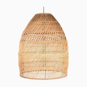Lámpara de mesa artesanal de hierro y ratán de Suite Contemporary, 2019