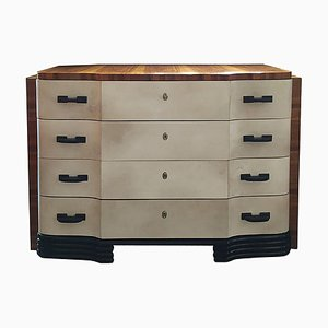 Art Deco French Walnut Chest of Drawers by Osvaldo Borsani, 1930s