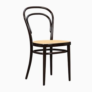 German Beech and Bentwood Model 214 Side Chair by Michael Thonet, 1986