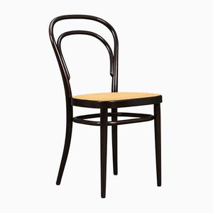 German Beech and Bentwood Model 214 Side Chair by Michael Thonet, 1980s