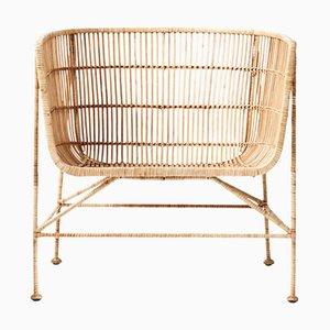 Sedia in ferro e vimini lavorata a mano di Suite Contemporary, 2019