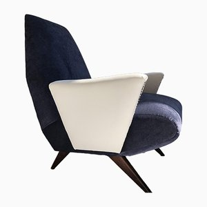 Italian Leatherette Lounge Chairs by Nino Zoncada, 1950s, Set of 2