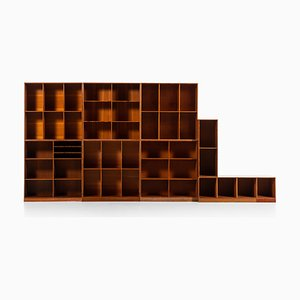 Modular Bookcases by Mogens Koch for Rud Rasmussen, 1930s, Set of 8