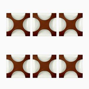 Sconces by Rolf Krüger for Staff, 1968, Set of 6