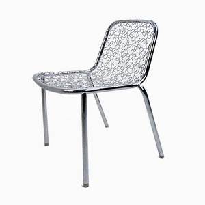 Chrome Plating and Steel Dining Chair by Marcel Wanders, 1990s