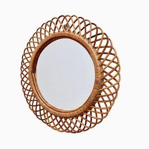 Mid-Century Italian Round Wall Mirror, 1960s