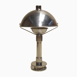 French Brass and Bronze Desk Lamp, 1970s