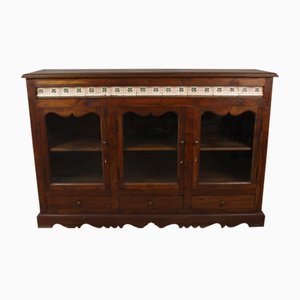 Antique Wooden Display Cabinet