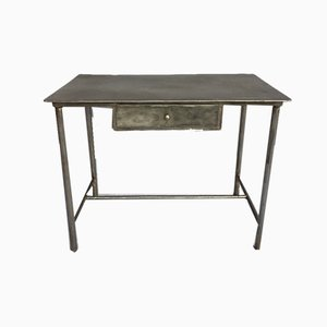 Mid-Century Industrial Iron Desk, 1950s