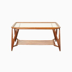 Italian Walnut Coffee Table by Cesare Lacca for Cassina, 1950s