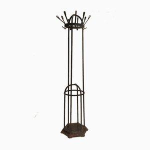 Attaccapanni Art Nouveau antico in ghisa e ferro di Koloman-Mauser