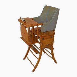 Rocking Chair ou Chaise Haute Convertible pour Enfant de Kibofa, 1950s