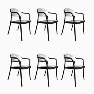 Stapelbare Mauna-Kea Stühle von Vico Magistretti für Kartell, 1990er, 6er Set