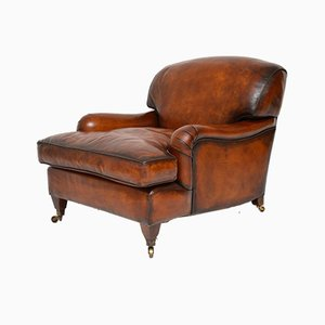 Leather Howard' Style Armchair, 1950s