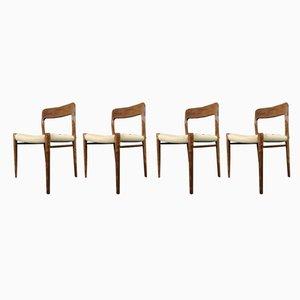 Nr. 75 Esszimmerstühle aus Teak von Niels O. Møller für J.L. Møllers, 1960er, 4er Set
