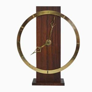 Art Deco German Brass Mantle Clock from Kienzle, 1930s