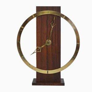 Art Deco German Brass Mantle Clock from Kienzle, 1930s