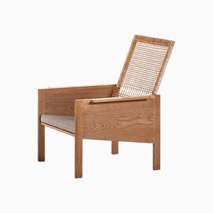 Dänischer Sessel mit Stoffsitz & Gestell aus Eiche von Kai Kristiansen für Christian Jensen Møbelsnedkeri, 1960er