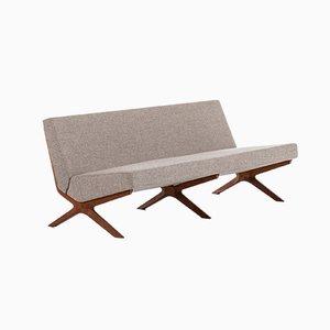 Danish Silverline Sofa by Peter Hvidt & Orla Mølgaard-Nielsen for France & Søn in Denmark, 1960s