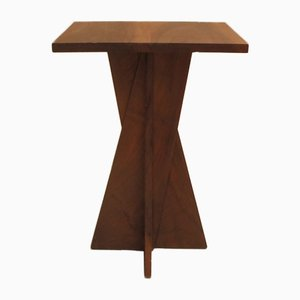 French Art Deco Walnut Side Table by Blanche Klotz, 1920s