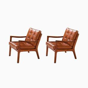 Dänische Senator Armlehnstühle von Ole Wanscher für France & Søn, 1950er, 2er Set