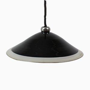 Lampe à Suspension en Plaqué Chrome, Italie, 1970s
