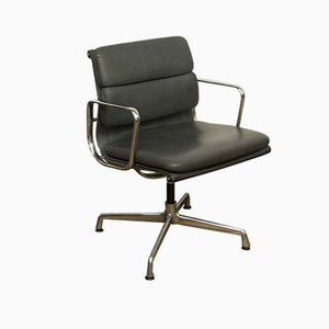 Aluminum & Leather EA208 Soft Pad Desk Chair by Charles & Ray Eames for Vitra, 1970s