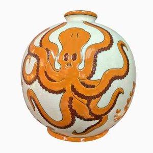 Jarrón de cerámica de Karalou, años 80