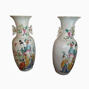 Chinesische Vasen, 1920er, 2er Set