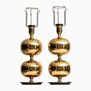 Brass Table Lamps by Henrik Blomqvist for AB Stilarmatur, 1960s, Set of 2